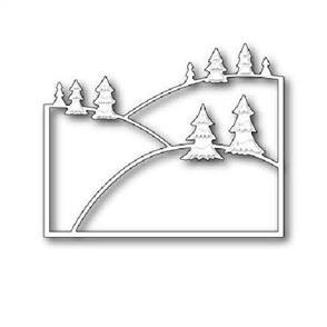 Poppystamps  Die - Evergreen Hillside
