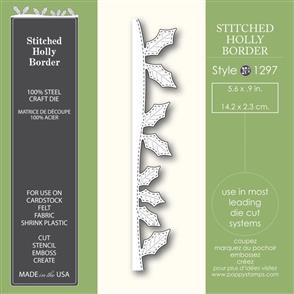Poppystamps  Stitched Holly Border - Die