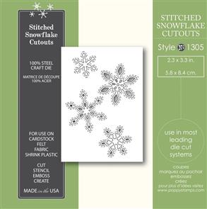 Poppystamps  Stitched Snowflake Cutouts - Die