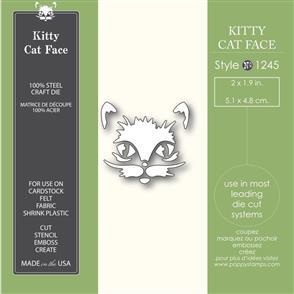 Poppystamps  Kitty Cat Face - Die