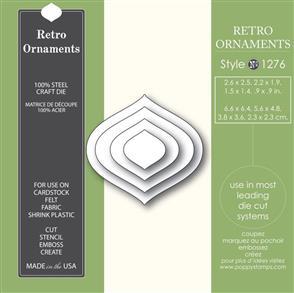 Poppystamps  Retro Ornaments - Die