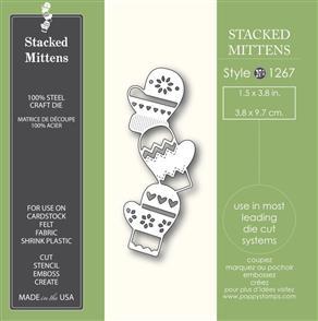 Poppystamps  Stacked Mittens - Die