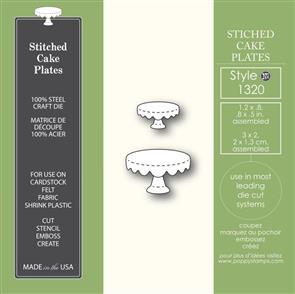 Poppystamps  Stitched Cake Plates - Die