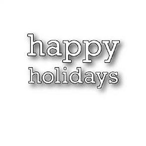 Poppystamps  Die - Proper Happy Holidays