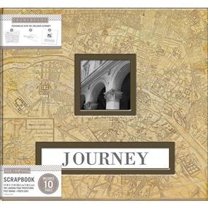 "K&Company  Frame-A-Name Post Bound Album 12""X12"" - Vintage Map"