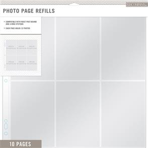 "K&Company  Photo Page Refills 12""X12"" 10/Pkg (6) 4""X6"" Pockets"
