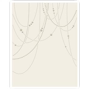 Sizzix  Tim Holtz Embossing Folder - Beaded Garland