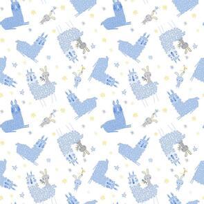 Trendy Trims - Fabric - Contempo Baby Buddies - 10281-05 - Blue