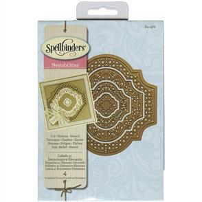 Spellbinders  Nestabilities Dies - Labels 41 Decorative Elements