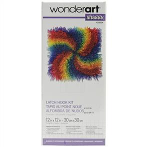 Caron Wonderart  Latch Hook Kit - Shaggy Pinwheel 12""
