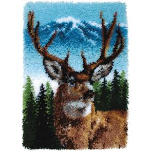 "Caron Wonderart  Latch Hook Kit - Deer - 20"" x 30"""