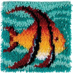 "Caron Wonderart  Latch Hook Kit - Angel Fish - 12"" x 12"""