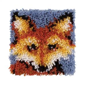 "Caron Wonderart  Latch Hook Kit - Mr Fox - 8""x8"" incl. Tool"