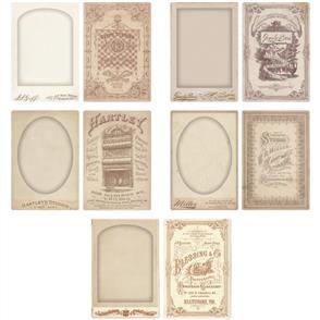 Idea-Ology Tim Holtz Tim Hotlz Cabinet Card Frames 5/Pkg