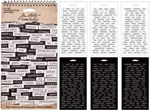 Idea-Ology Tim Holtz Word Stickers - Big Chat 478 Stickers