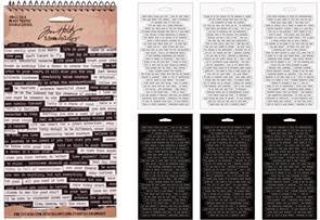 Idea-Ology Tim Holtz Word Stickers - Small Talk 296 Stickers