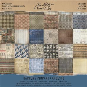 "Idea-Ology Tim Holtz Paper Stash - Dapper 12""x12"""