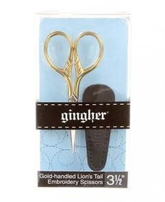 Gingher Goldhandle Lions Tail Embroidery Scissors