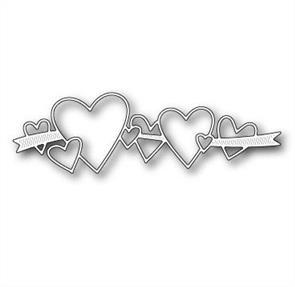 Memory Box  Die - Heart Ribbon