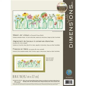 Dimensions  Mason Jar Lineup - Cross Stitch Kit