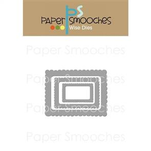 Paper Smooches Wise Dies - Scallop Frames