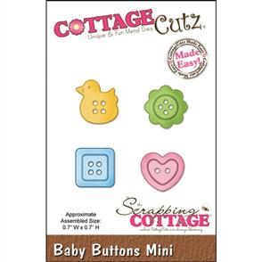 Cottage Cutz Die - Baby Buttons Mini
