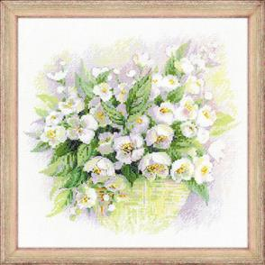 Riolis  Watercolour Jasmine - Cross Stitch Kit