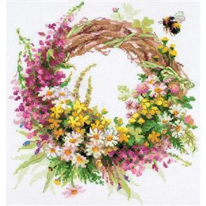 Riolis  Wreath With Fireweed - Cross Stitch Kit