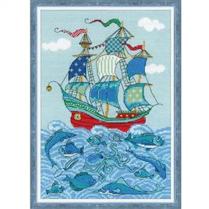 "Riolis  Sailboat ""Luck"" - Cross Stitch Kit"