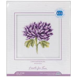 RTO  Chrysanthemums Counted Cross Stitch Kit