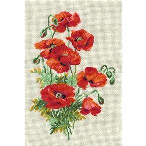 Riolis  Wild Poppies - Cross Stitch Kit