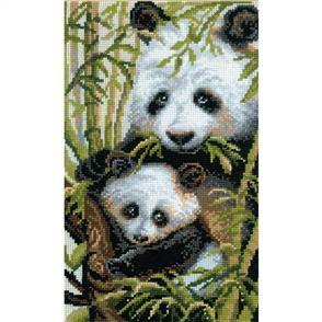 Riolis  Panda with Young - Cross Stitch Kit