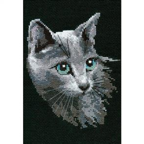 Riolis  Russian Blue - Cat - Cross Stitch Kit