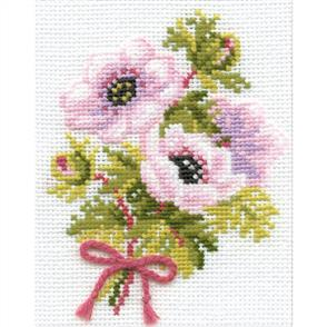 Riolis  Anemones - Cross Stitch Kit