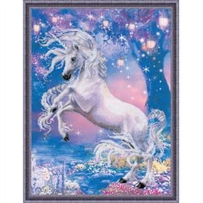 Riolis  Unicorn - Printed Cross Stitch Kit
