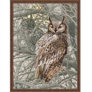 Riolis  Eagle Owl - Printed Cross Stitch Kit