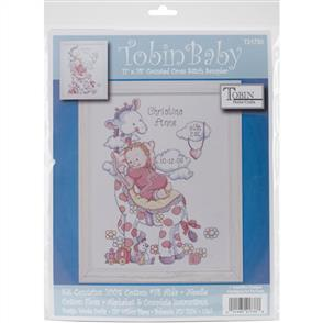 Tobin  Giraffe Birth Record - Cross Stitch Kit