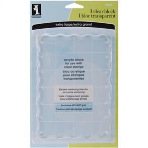 Inkadinkado  Clear Acrylic Block - Extra Large