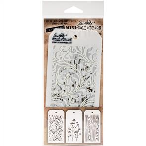 Stampers Anonymous Tim Holtz 3/pk Mini Layering Stencils - Set 10