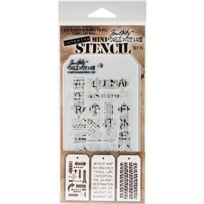 Stampers Anonymous Tim Holtz 3/pk Mini Layering Stencils - Set 15