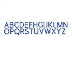 Impression Obsession Dies - Alphabet Plain Upper