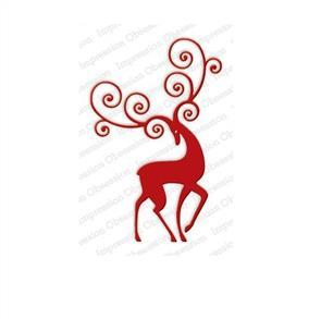 Impression Obsession  Dies - Reindeer Flourish