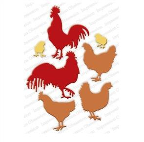 Impression Obsession  Dies - Roosters & Chickens