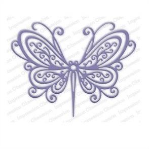 Impression Obsession  Dies - Open Scroll Butterfly