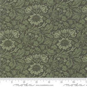 Moda Morris Flowering Scroll - Pine 33492