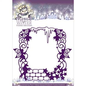 Yvonne Creations  Magical Frame  Magical Winter Die