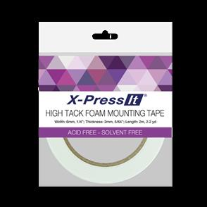 X-Press It  High Tack Foam Mounting Tape - 6mm x 2m
