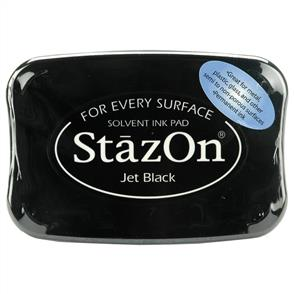 TSUKINEKO StazOn Ink Pad - Jet Black