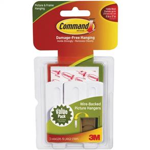 3M  Command - Large Wire-Backed Picture Hangers 3pk