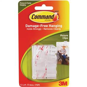 3M  Command - Picture Clips 6/pk